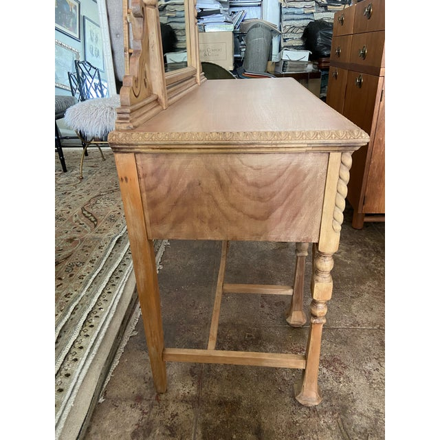 Vintage Victorian Style Karpen Vanity With Mirror For Sale In Los Angeles - Image 6 of 12