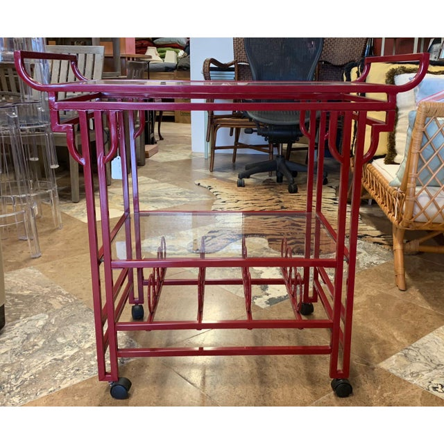 Late 20th Century Late 20th Century Art Deco Bar Cart For Sale - Image 5 of 9