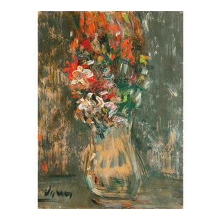 'Expressionist Still Life of Spring Flowers' by Sylvain Vigny; Pompidou Center, Paris For Sale