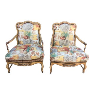 1930s Vintage French Country Armchairs- A Pair For Sale