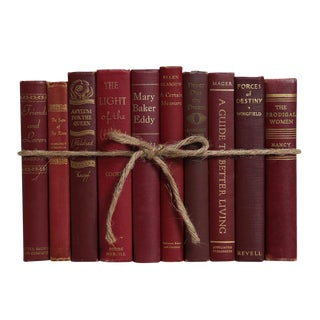 Midcentury Bordeaux ColorPak : Decorative Books in Shades of Deep Red and Burgundy