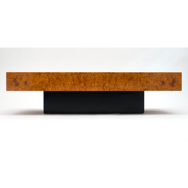 Ash Mid-Century Burl Ash Coffee Table For Sale - Image 7 of 10