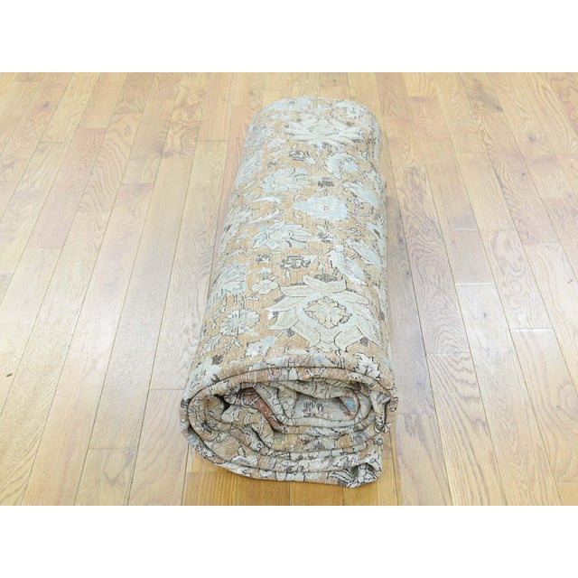1920s Vintage Hand-Knotted Persian Tabriz Rug - 9′6″ × 13′1″ For Sale - Image 4 of 12