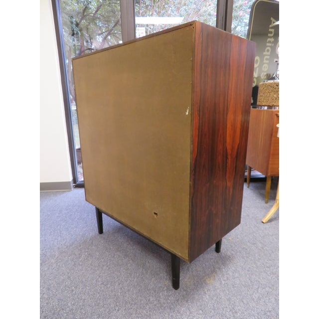 1970s Mid-Century Modern 6-Drawer Rosewood Highboy For Sale - Image 11 of 13