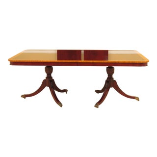Traditional Duncan Phyfe Mahogany Dining Room Table For Sale