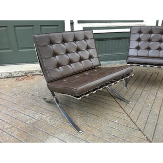 1970s Vintage Knoll Stainless Steel Barcelona Chairs- A Pair Preview