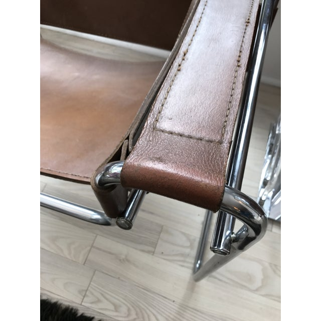 Vintage Wassily Brown Leather Chair - Image 6 of 10