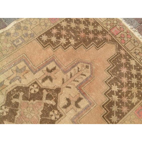 Vintage Turkish Oushak Rug - 3′10″ × 6′1″ For Sale - Image 5 of 6