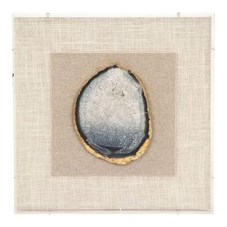 Bonilla Geode Acrylic Framed Wall Art in Blue For Sale