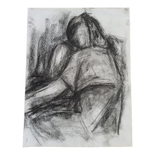 Figurative Charcoal on Paper Drawing For Sale