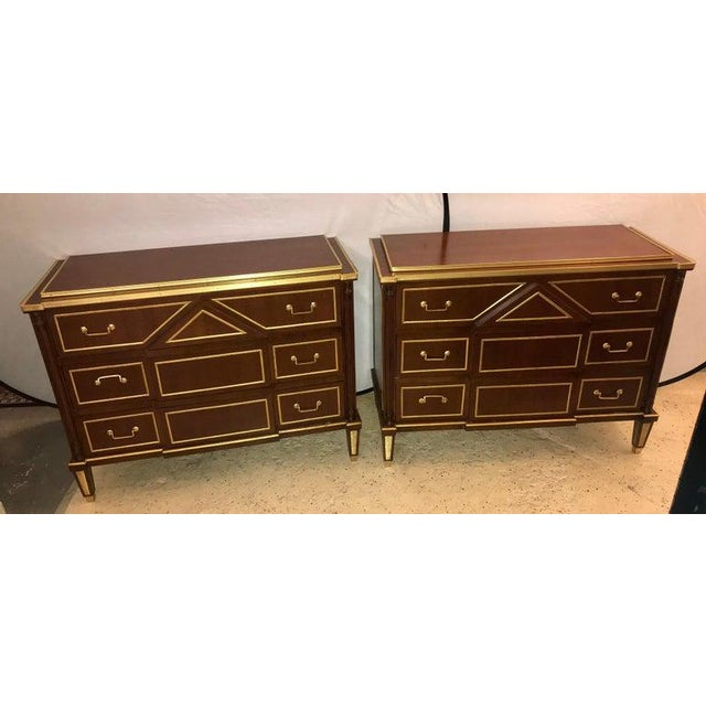 Pair of Russian Neoclassical Style Commodes / Bedside Nightstands or Servers For Sale - Image 4 of 13