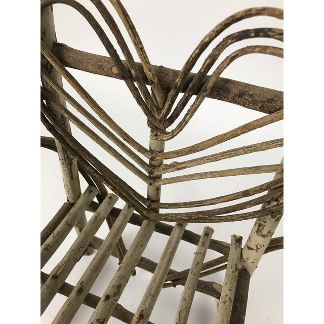1990s Bent Twigs Heart Chair Plant Stand For Sale - Image 5 of 10