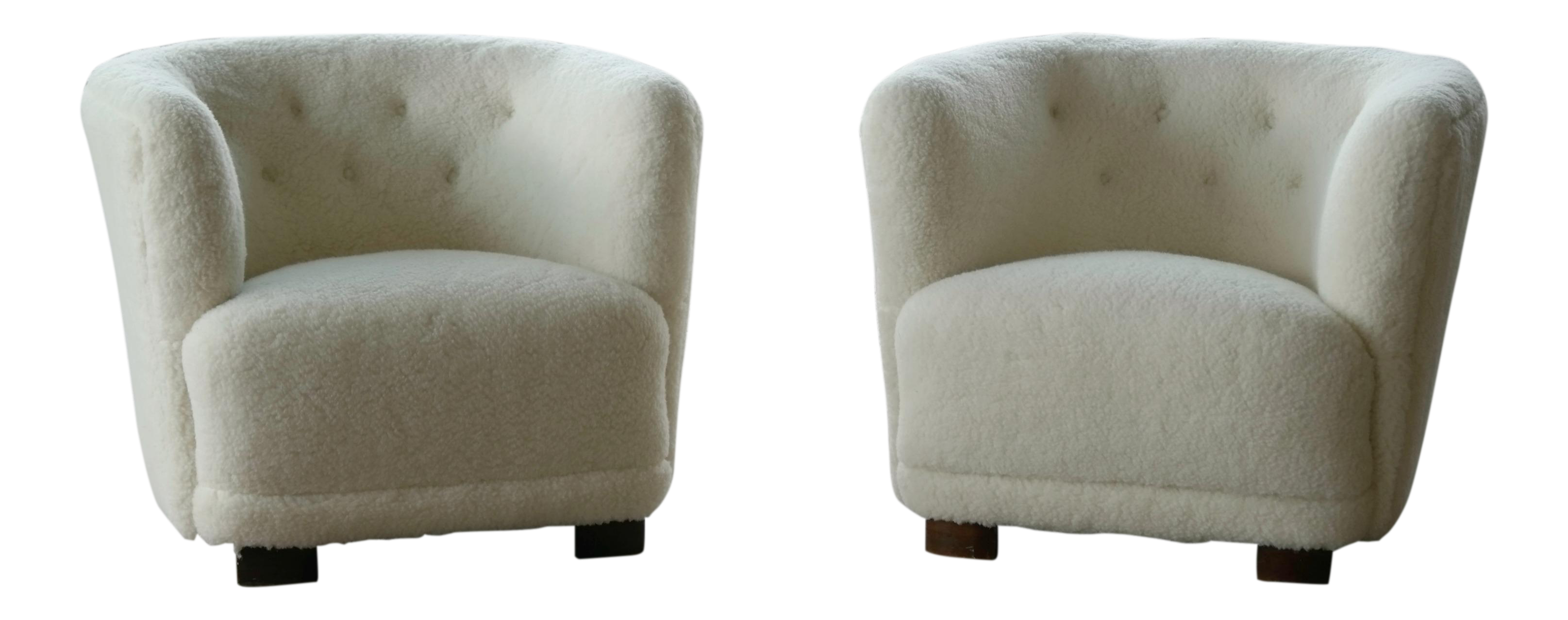 Viggo Boesen Style Pair Of Lounge Chairs By Slagelse Mobelvaerk
