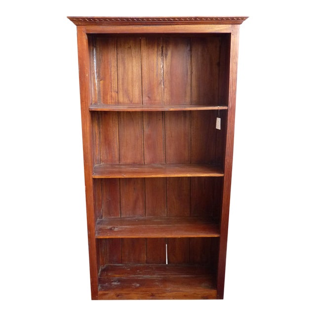 Rustic Wooden Bookcase - Image 1 of 11