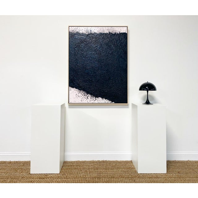 """Abstract Exclusive John O'Hara """"Tar, 16"""" Encaustic Painting For Sale - Image 3 of 7"""