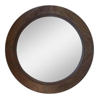 19th Century Pine Round Mirror