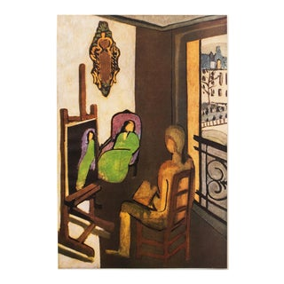"""1940s Henri Matisse """"The Painter and His Model"""", First Edition Period Swiss Lithograph For Sale"""