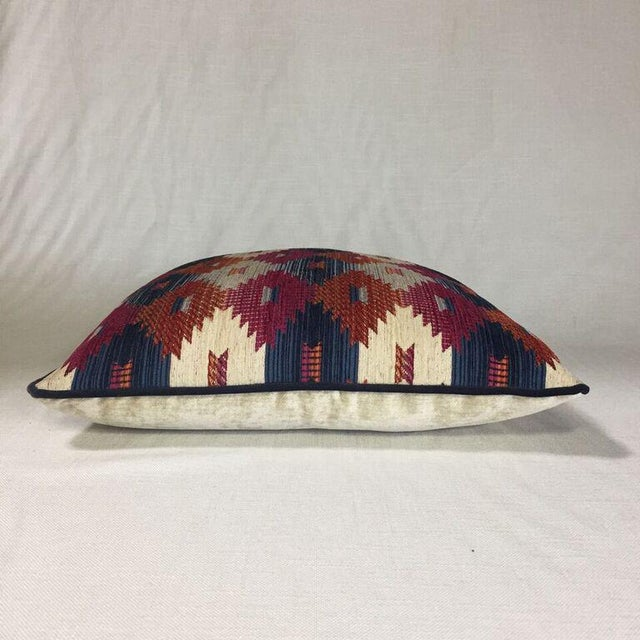 Boho Chic Kim Salmela Multi Color Aztec Print Pillow For Sale - Image 3 of 3