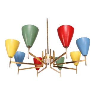 Mid-Century Modern Italian Chandelier After Arredoluce For Sale