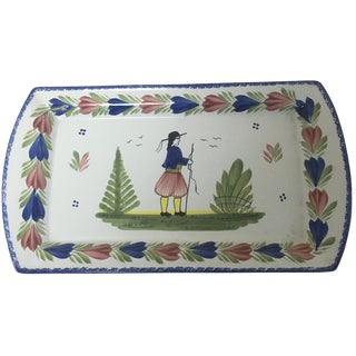 Rectangular Quimper Tray