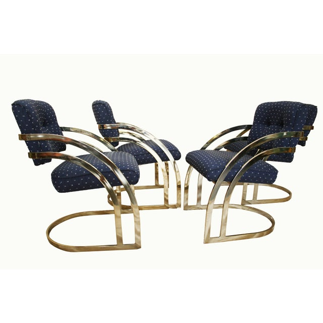 Vintage Milo Baughman Style Dining Chairs - 4 - Image 5 of 11