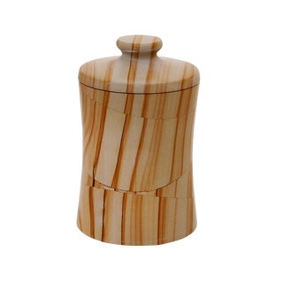 Tan Marble Cannister