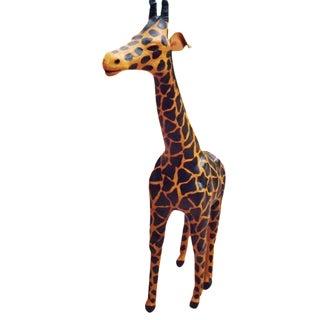 Handmade Paper Mache Giraffe For Sale