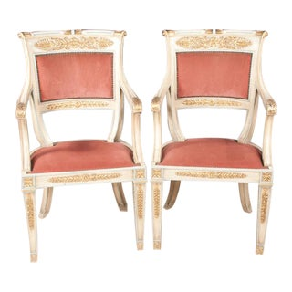 Italian Neo-Classical Armchairs - a Pair For Sale
