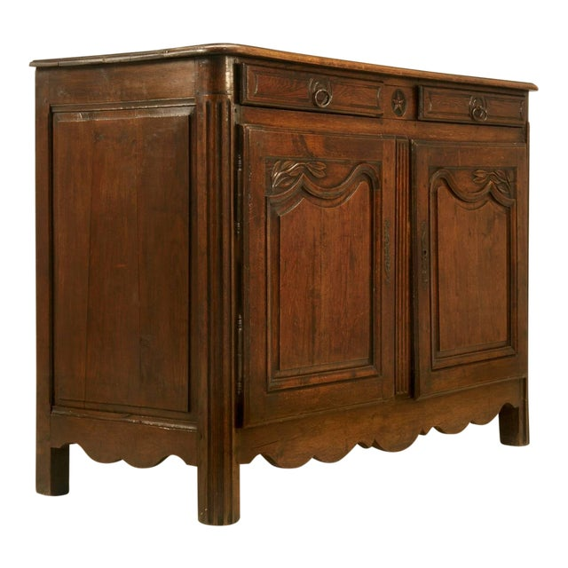 Antique French Buffet With Star Motif For Sale