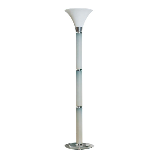 Vintage Lucite and Glass Floor Lamp For Sale