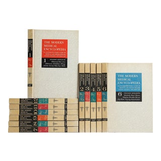 1960's Modern Medical Encyclopedia Set, S/12