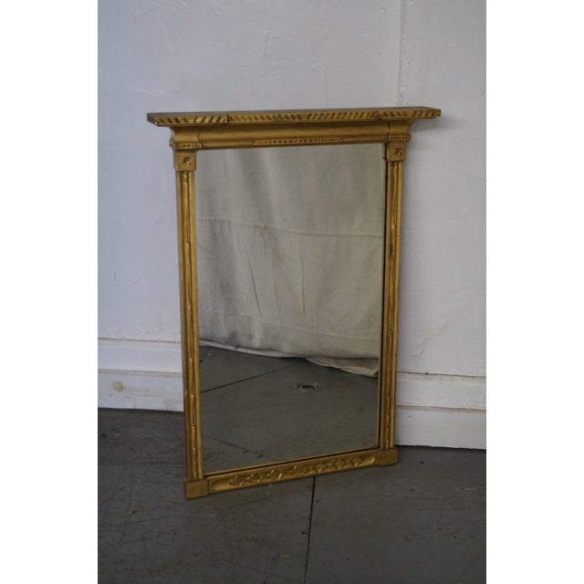 Antique Gilt Wood Impressionist Wall Mirror For Sale - Image 9 of 10