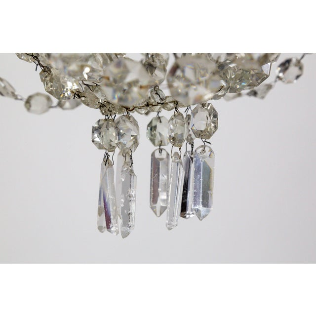 Delicate Crystal & Wire French Regency Tent Chandelier For Sale - Image 11 of 13