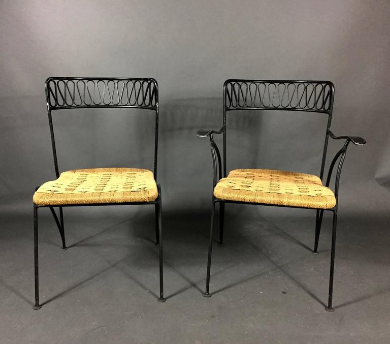 1950s, Maurizio Tempestini Iron Ribbon Garden Chairs For Salterini, NY    Image 4 Of