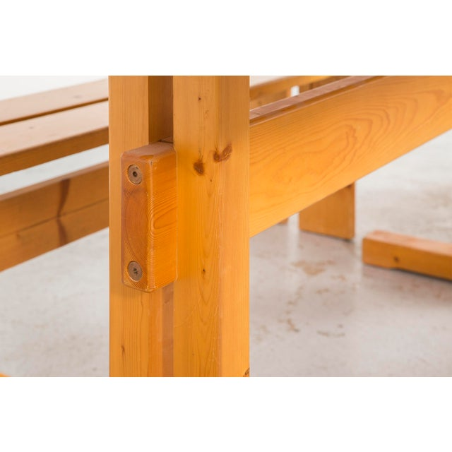 Charlotte Perriand Les Arcs Pine Dining Table by Charlotte Perriand For Sale - Image 4 of 9