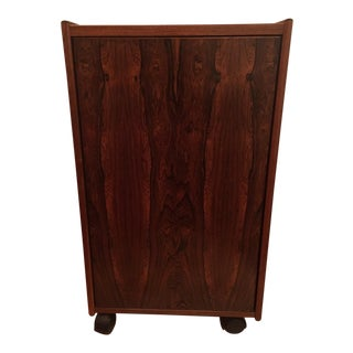 Mid Century Modern Bar Cabinet on Wheels For Sale