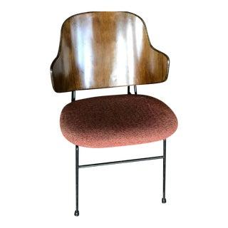 1960s Lb Kofod-Larsen Walnut Penguin Chair With Original Upholstery