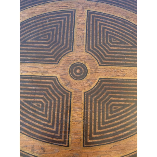 Drexel Heritage Inlaid Wood Rectangular End Table With Geometric Decoration For Sale - Image 4 of 13
