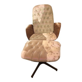 Mid Century Modern George Mulhauser for Plycraft Mr. Chair & Ottoman Newly Upholstered - 2 Piece Set For Sale