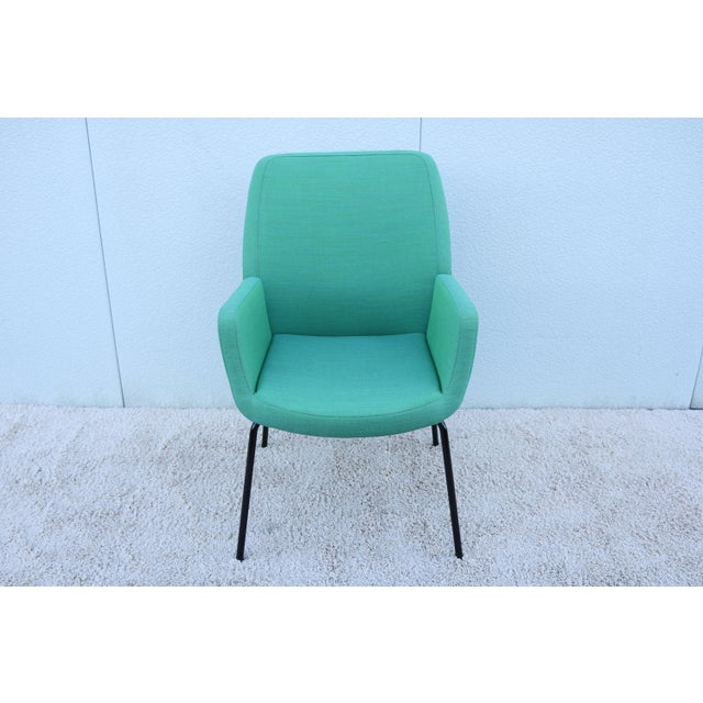 Modern Modern Brian Kane for Coalesse and Steelcase Bindu Green Guest Chair For Sale - Image 3 of 13