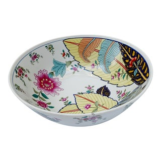 Vintage Tobacco Leaf Fine China Medium Salads Serving Bowl For Sale