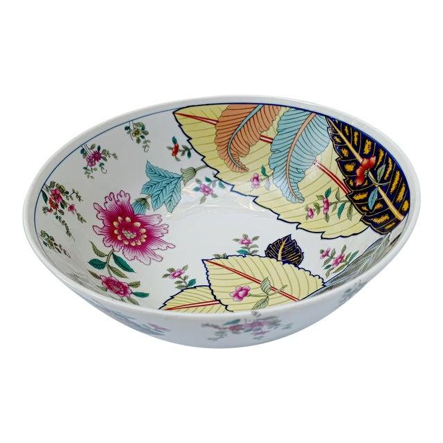 Vintage Tobacco Leaf Fine China Medium Salads Serving Bowl For Sale