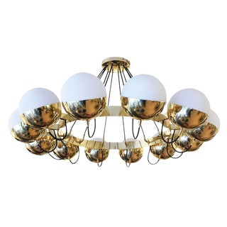 "Customizable ""Sospeso"" Twelve Globe Chandelier by Fedele Papagni for Gaspare Asaro For Sale"