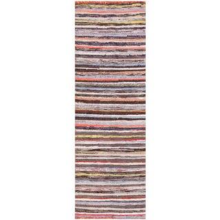 Vintage Swedish Runner Rag Rug - 2′ × 6′2″ For Sale