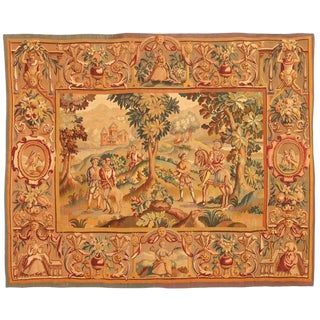 Antique Extremely Finely Woven 19th Century French Tapestry For Sale