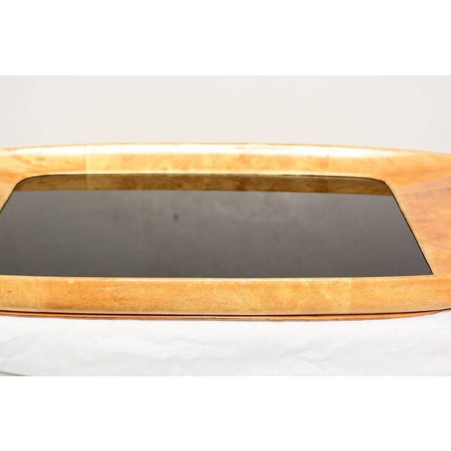 1960s, Aldo Tura Goatskin and Glass Service Tray, Midcentury For Sale In San Diego - Image 6 of 10