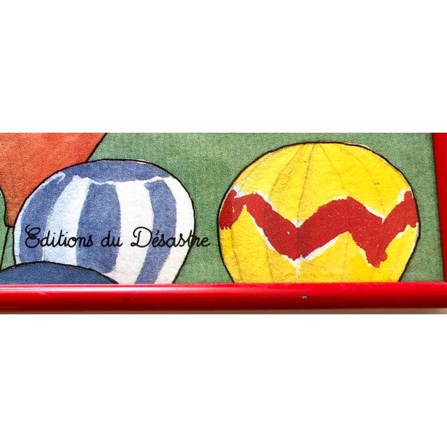 Illustration French Babar Et Les Ballons Framed Print For Sale - Image 3 of 5