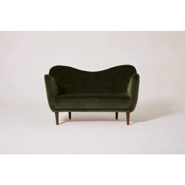 Mid-Century Modern Finn Juhl Curved Bo55 Sofa / Loveseat, Bovirke, Denmark, 1940s/50s For Sale - Image 3 of 6
