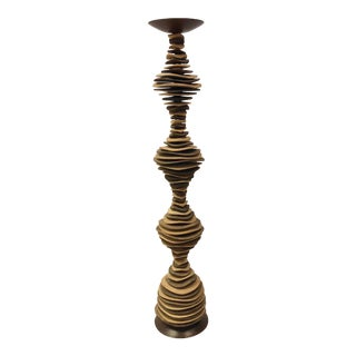 Wooden Candle Stick For Sale
