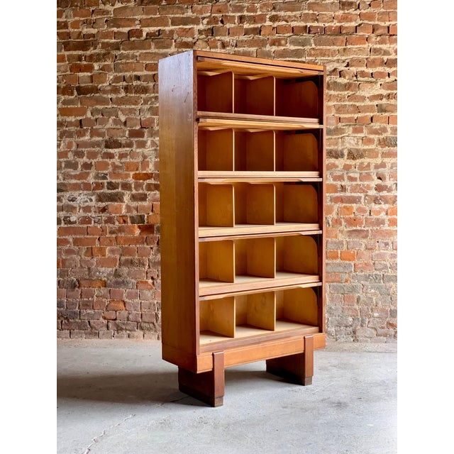 Wood Midcentury Oak Cabinet RAF Staverton circa 1956 N0 3 - A Pair For Sale - Image 7 of 12